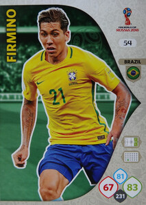 WORLD CUP RUSSIA 2018 BRAZYLIA TEAM FIRMINO 54
