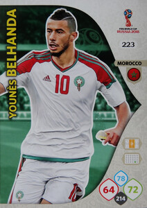 WORLD CUP RUSSIA 2018 TEAM MATE  MAROKO BELHANDA 223