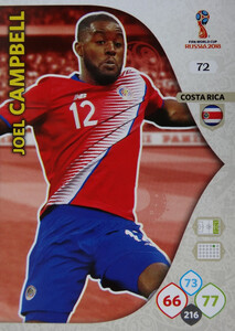 WORLD CUP RUSSIA 2018 COSTA RICA TEAM MATE CAMPBELL 72