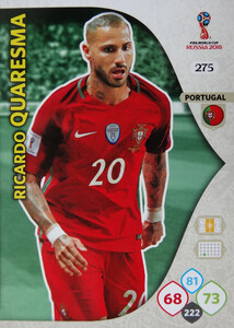 WORLD CUP RUSSIA 2018 TEAM MATE PORTUGALIA QUARESMA 275