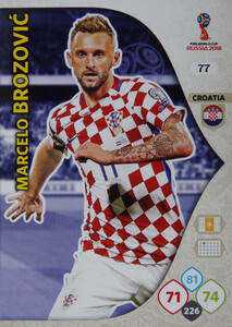 WORLD CUP RUSSIA 2018 CHORWACJA TEAM MATE  BROZOVIĆ 77