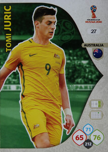 WORLD CUP RUSSIA 2018 AUSTRALIA TEAM JURIC 27