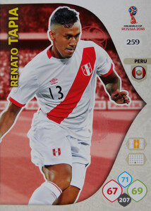 WORLD CUP RUSSIA 2018 TEAM MATE PERU TAPIA 259