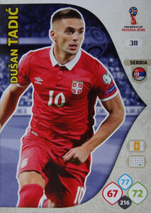 WORLD CUP RUSSIA 2018 TEAM MATE SERBIA TADIĆ 311