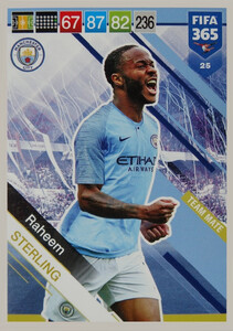 2019 FIFA 365 TEAM MATE  STERLING 25