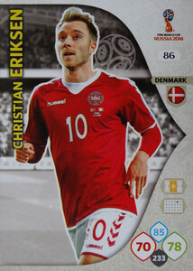 WORLD CUP RUSSIA 2018 DANIA TEAM MATE ERIKSEN 86