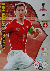 WORLD CUP RUSSIA 2018 TEAM MATE SZWAJCARIA LICHTSTEINER 317