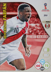 WORLD CUP RUSSIA 2018 TEAM MATE PERU FARFAN 261