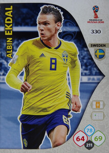 WORLD CUP RUSSIA 2018 TEAM MATE SZWECJA EKDAL 330