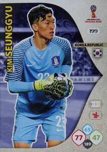 WORLD CUP RUSSIA 2018 TEAM MATE KOREA SEUNGGYU 199