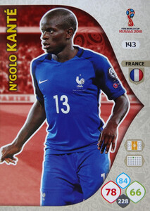 WORLD CUP RUSSIA 2018 TEAM MATE FRANCJA KANTE 143