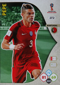 WORLD CUP RUSSIA 2018 TEAM MATE PORTUGALIA PEPE 272