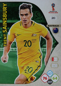 WORLD CUP RUSSIA 2018 AUSTRALIA TEAM SAINSBURY 20