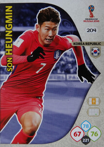 WORLD CUP RUSSIA 2018 TEAM MATE KOREA HEUNGMIN 204