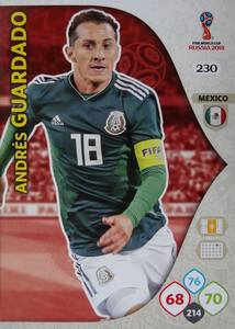 WORLD CUP RUSSIA 2018 TEAM MATE MEKSYK GUARDADO 230