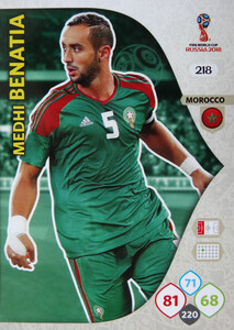 WORLD CUP RUSSIA 2018 TEAM MATE  MAROKO BENATIA 218