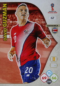 WORLD CUP RUSSIA 2018 COSTA RICA TEAM MATE GUZMAN 67