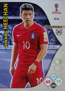 WORLD CUP RUSSIA 2018 TEAM MATE KOREA HEECHAN 206