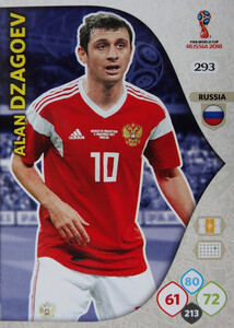 WORLD CUP RUSSIA 2018 TEAM MATE ROSJA DZAGOEV 293