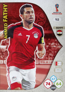 WORLD CUP RUSSIA 2018 EGIPT TEAM MATE FATHY 92