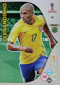 WORLD CUP RUSSIA 2018 BRAZYLIA TEAM FERNANDINHO 45