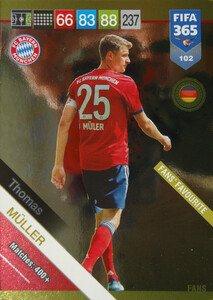 2019 FIFA 365 FANS FAVOURITE  MULLER 102