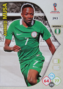 WORLD CUP RUSSIA 2018 TEAM MATE NIGERIA MUSA 243