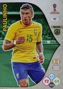 WORLD CUP RUSSIA 2018 BRAZYLIA TEAM PAULINHO 47