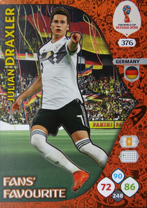 WORLD CUP RUSSIA 2018 FANS FAVOURITE DRAXLER 376