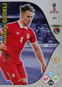 WORLD CUP RUSSIA 2018 TEAM MATE SERBIA GUDELJ 313