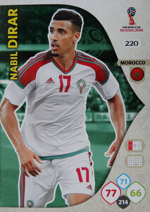 WORLD CUP RUSSIA 2018 TEAM MATE  MAROKO DIRAR 220