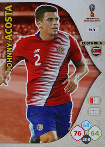 WORLD CUP RUSSIA 2018 COSTA RICA TEAM MATE ACOSTA 65