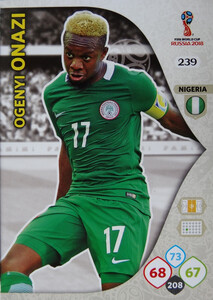 WORLD CUP RUSSIA 2018 TEAM MATE NIGERIA ONAZI 239