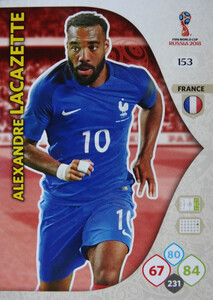 WORLD CUP RUSSIA 2018 TEAM MATE FRANCJA LACAZETTE 153