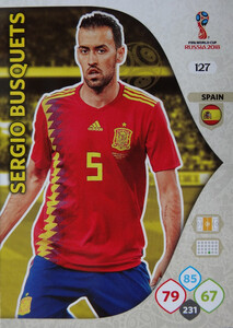 WORLD CUP RUSSIA 2018 TEAM MATE HISZPANIA BUSQUETS 127