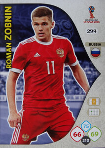 WORLD CUP RUSSIA 2018 TEAM MATE ROSJA ZOBNIN 294