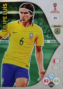 WORLD CUP RUSSIA 2018 BRAZYLIA TEAM FILIPE LUIS 39