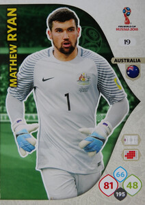 WORLD CUP RUSSIA 2018 AUSTRALIA TEAM RYAN 19