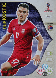 WORLD CUP RUSSIA 2018 TEAM MATE SERBIA KOSTIĆ 314