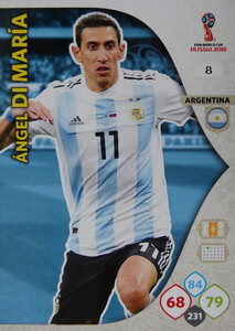 WORLD CUP RUSSIA 2018 ARGENTYNA TEAM Di MARIA 8