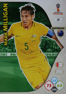 WORLD CUP RUSSIA 2018 AUSTRALIA TEAM MILLIGAN 21