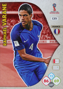 WORLD CUP RUSSIA 2018 TEAM MATE FRANCJA VARANE 139