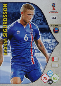WORLD CUP RUSSIA 2018 TEAM MATE ISLANDIA SIGURDSSON 183