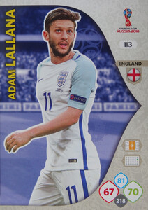 WORLD CUP RUSSIA 2018 ANGLIA TEAM MATE LALLANA 113
