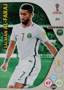 WORLD CUP RUSSIA 2018 TEAM MATE ARABIA SAUDYJSKA  AL-FARAJ 212