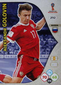 WORLD CUP RUSSIA 2018 TEAM MATE ROSJA GOLOVIN 292