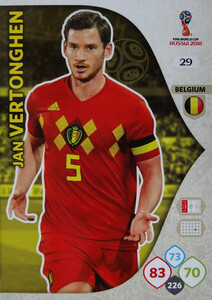 WORLD CUP RUSSIA 2018 BELGIA TEAM VERTONGHEN 29