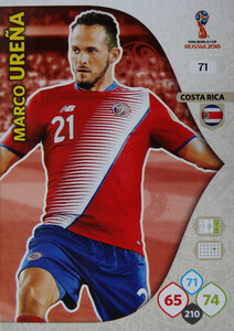 WORLD CUP RUSSIA 2018 COSTA RICA TEAM MATE URENA 71