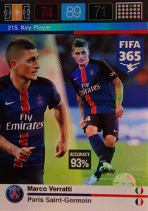 2016 FIFA 365 KEY PLAYER Marco Verratti #215