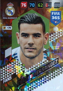 2018 FIFA 365 IMPACT SIGNING Theo Hernández #121
